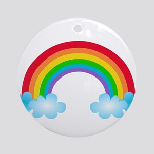 Rainbow & Clouds Ornament (Round)