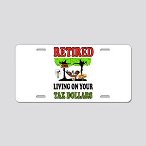 RETIRED WELFARE Aluminum License Plate