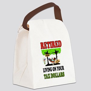 RETIRED WELFARE Canvas Lunch Bag