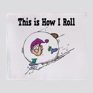 How I Roll (Snowball) Throw Blanket