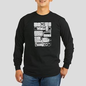Pedal Board black Long Sleeve T-Shirt