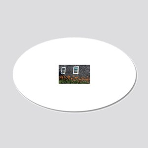 Capeviews shingled cape cod  20x12 Oval Wall Decal