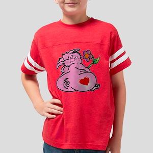 blk_Fat_Pig_W_Tattoo_Heart_Fl Youth Football Shirt