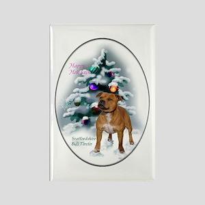 Staffordshire Bull Terr Rectangle Magnet (10 pack)