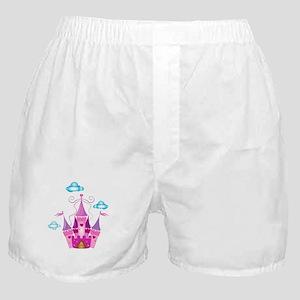 Pink Fairytale Castle Boxer Shorts