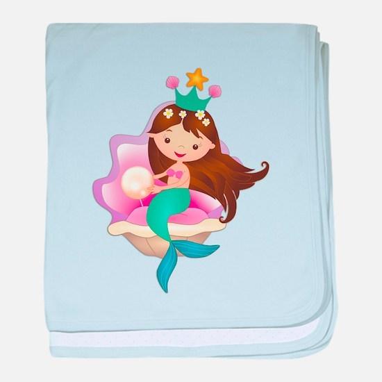 Princess Mermaid baby blanket