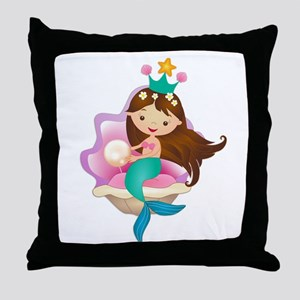 Princess Mermaid Throw Pillow