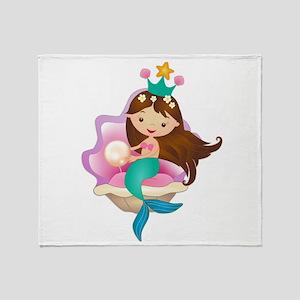 Princess Mermaid Throw Blanket