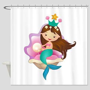 Princess Mermaid Shower Curtain