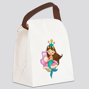 Princess Mermaid Canvas Lunch Bag