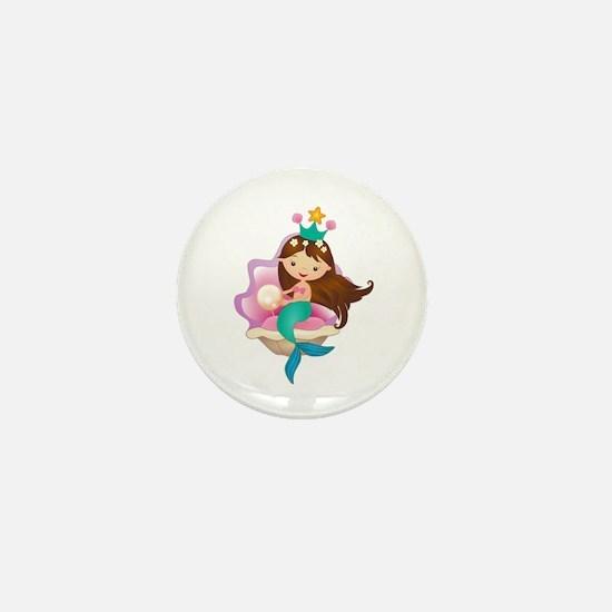 Princess Mermaid Mini Button