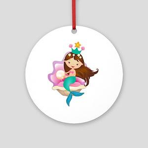 Princess Mermaid Ornament (Round)