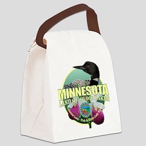 Minnesota State Bird & Flower Canvas Lunch Bag