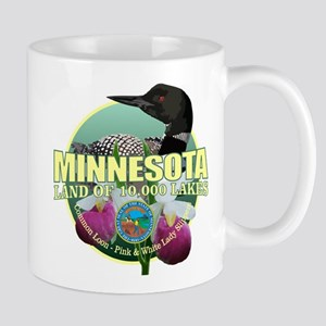 Minnesota State Bird & Flower Mugs