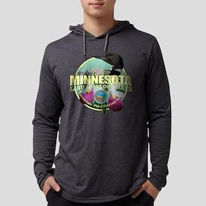 Minnesota State Bird & Flower Mens Hooded Shirt