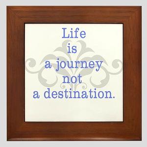 Life is a Journey Framed Tile