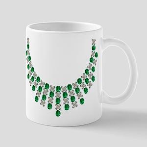 Hugs and Kisses Emerald and Diamond Necklace Mug