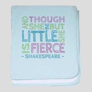 Though She Be But Little She is Fierce baby blanke