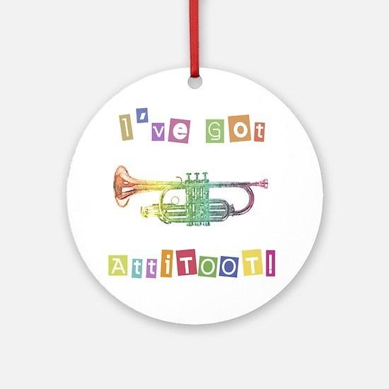 Trumpet Attitude Ornament (Round)