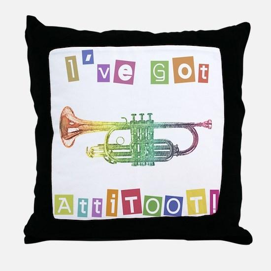 Trumpet Attitude Throw Pillow