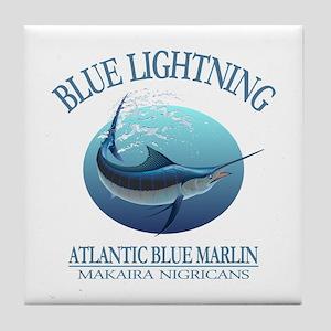 Blue Lightning Tile Coaster