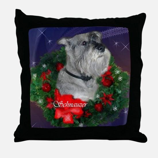 Standard Schnauzer Christmas Throw Pillow