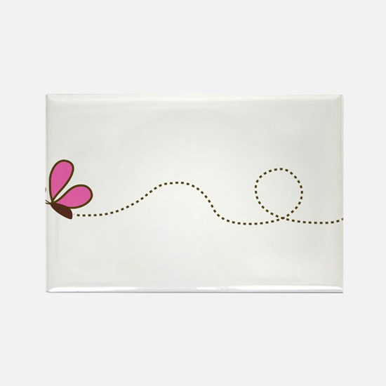 Butterfly in Flight Rectangle Magnet