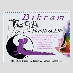 Bikram Yoga Calendar Cover Wall Calendar