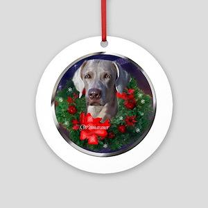 Weimaraner Christmas Ornament (Round)