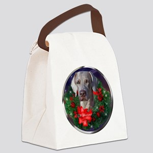Weimaraner Christmas Canvas Lunch Bag