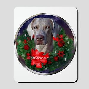 Weimaraner Christmas Mousepad