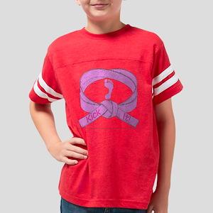PinkKickIt_1 Youth Football Shirt