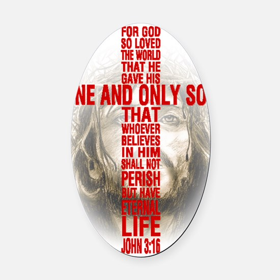 His One and Only Son Oval Car Magnet