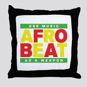 AFROBEAT _ USE MUSIC AS A WEAPON Throw Pillow
