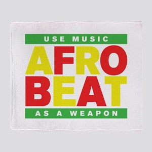 AFROBEAT _ USE MUSIC AS A WEAPON Throw Blanket