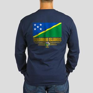 Solomon Islands (Flag 10)2 Long Sleeve T-Shirt