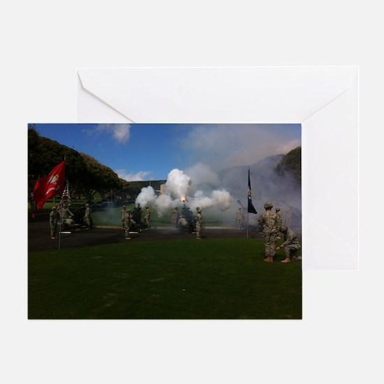 Field Artillery Salute Greeting Card