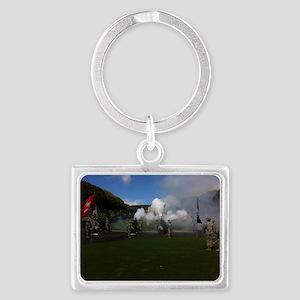 Field Artillery Salute Landscape Keychain
