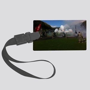Field Artillery Salute Large Luggage Tag