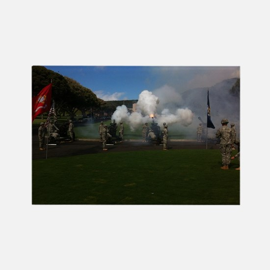 Field Artillery Salute Rectangle Magnet