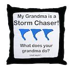 Baby TwisterChaser Grandma Blue Throw Pillow