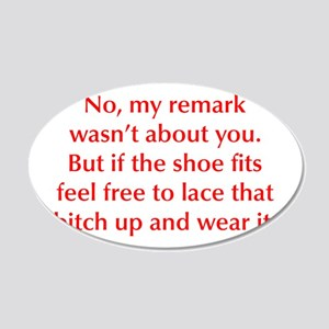 no-my-remark-opt-red Wall Decal