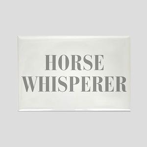 horse-whisperer-BOD-GRAY Rectangle Magnet