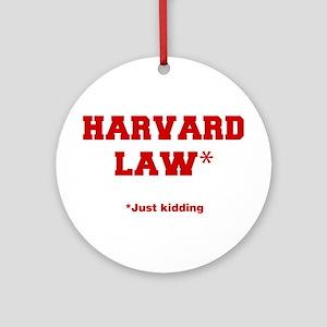 harvard-law-fresh-crimson Ornament (Round)