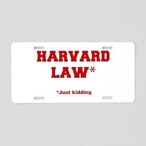 harvard-law-fresh-crimson Aluminum License Plate