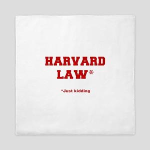 harvard-law-fresh-crimson Queen Duvet