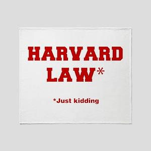 harvard-law-fresh-crimson Throw Blanket