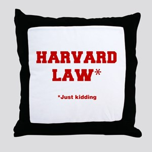 harvard-law-fresh-crimson Throw Pillow