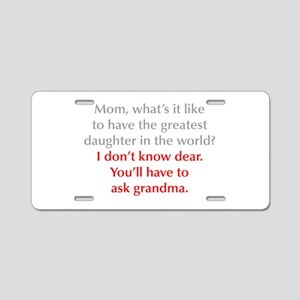 greatest-daughter-opt-gray-red Aluminum License Pl