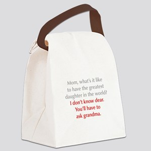 greatest-daughter-opt-gray-red Canvas Lunch Bag